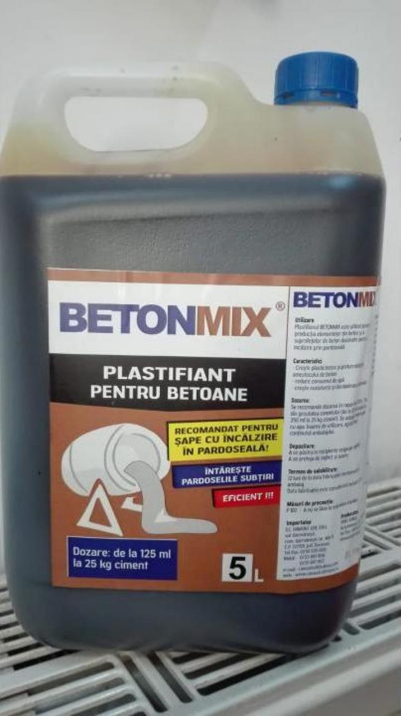 Aditiv plastifiant pentru betoane Betonmix