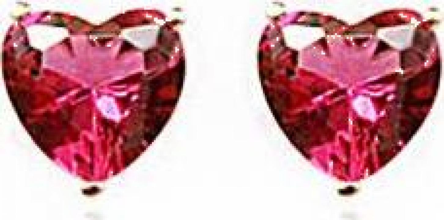 Cercei Pink Heart