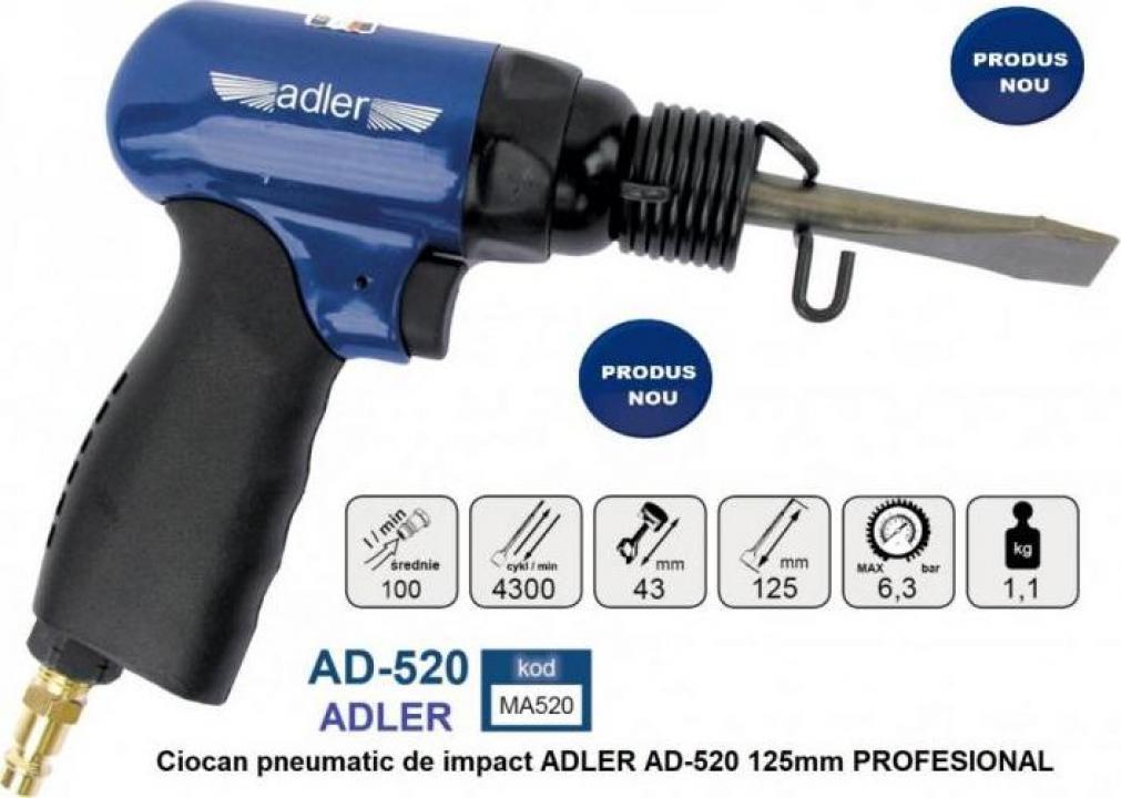 Ciocan pneumatic de impact Adler AD-520 125mm Profesional