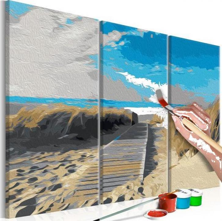 Kit de pictura pe numere - Plaja (cer albastru)