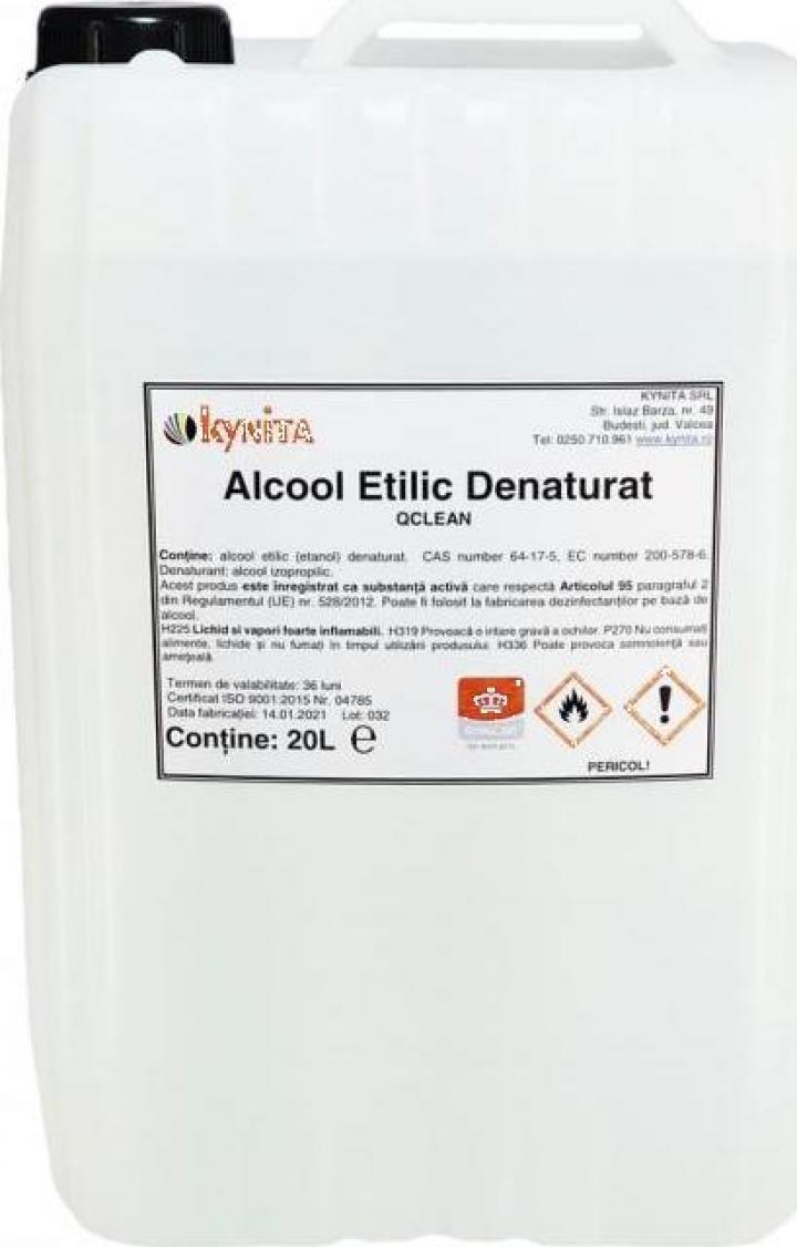 Alcool etilic denaturat QClean 20litri