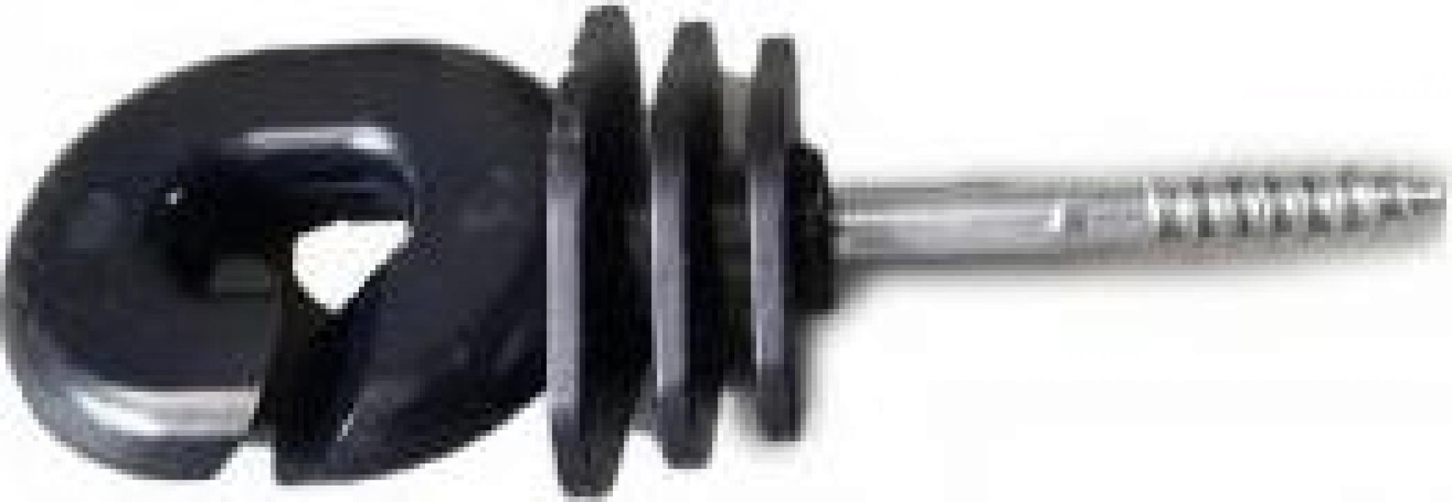 Izolator inelar PP negru mat gard electric BK87690