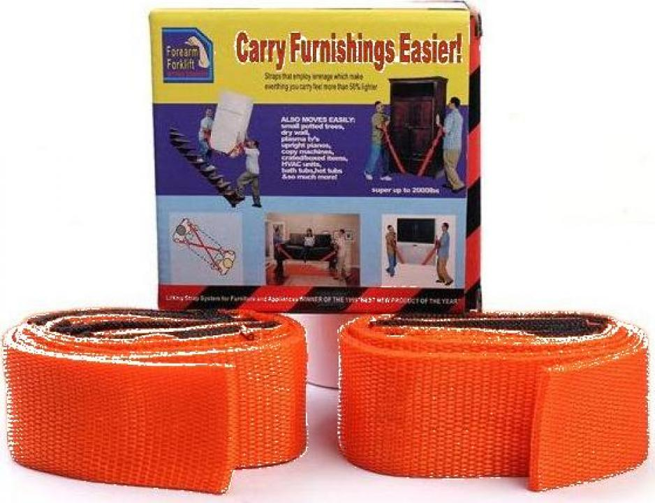 Set 2 curele pentru mutat mobila Carry Furnishings Easier