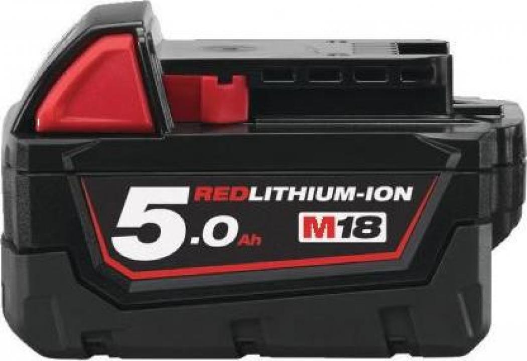 Acumulator Li-Ion Milwaukee M18 B5, 18 V, 5.0 Ah