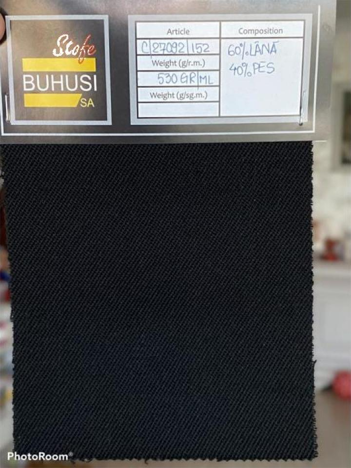 Stofa lana culoare negru, art. 27-092