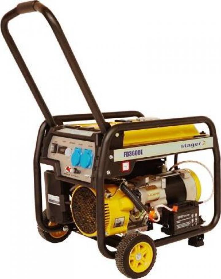 Generator open-frame 2.8kW, monofazat Stager FD 3600E