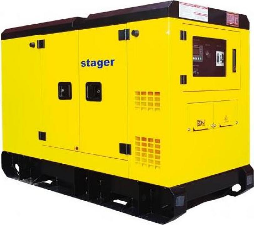 Generator silent Stager YDY385S3, diesel, 385kVA