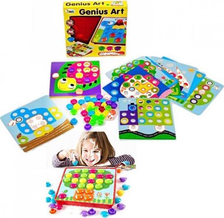 Joc mozaic creativ pentru copii Genius Art